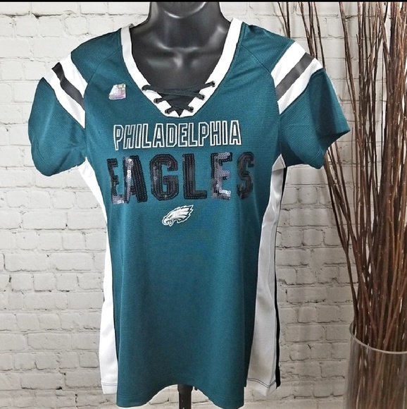 the latest ad035 ab8be NFL Apparel Philadelphia Eagles Jersey w/ Sequins NWT